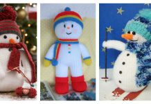 Snowman Free Knitting Pattern