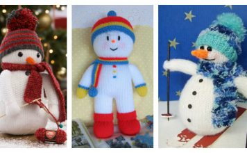 Snowman Free Knitting Pattern