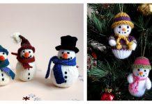 Amigurumi Snowman Free Knitting Pattern