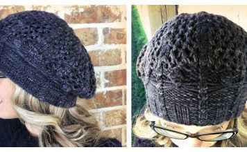Spider Lace Hat Free Knitting Pattern