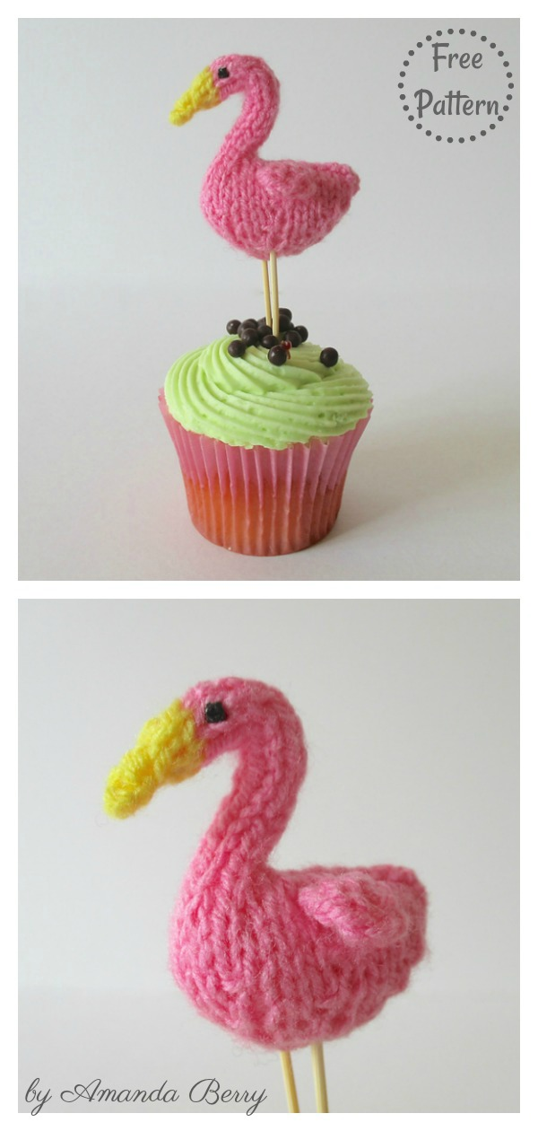 Teeny Flamingo Amigurumi Free Knitting Pattern