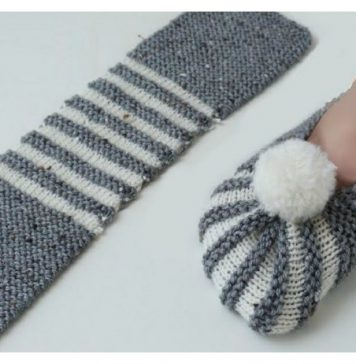 The Easiest Way To Knit Slippers