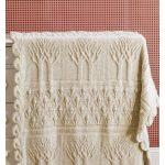 Tree of Life Afghan Blanket Free Knitting Pattern
