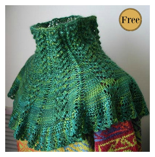 Victorian Neck Warmer Free Knitting Pattern
