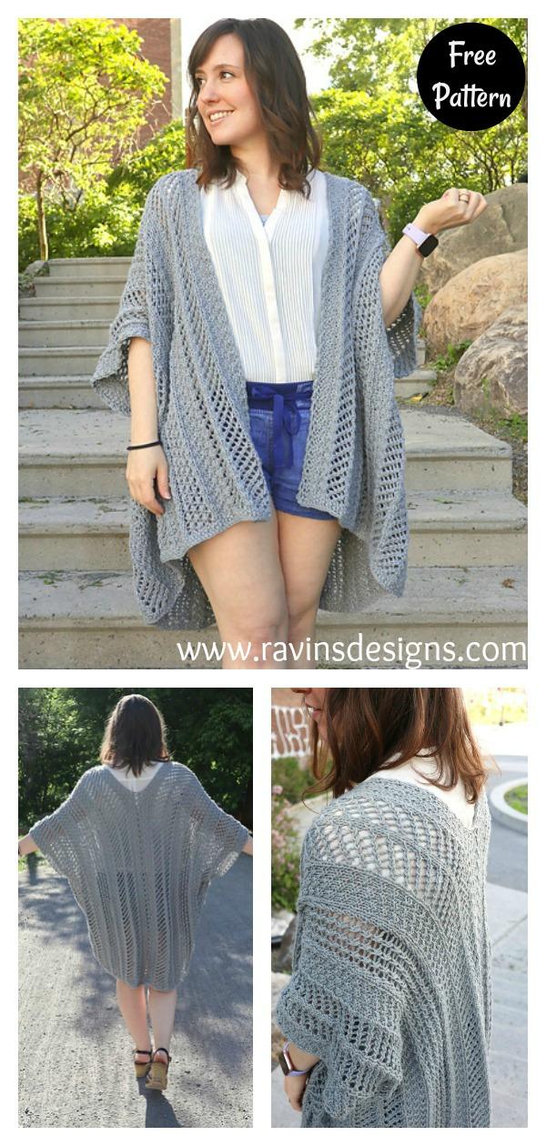 Walkiria Kimono Cardigan Free Knitting Pattern