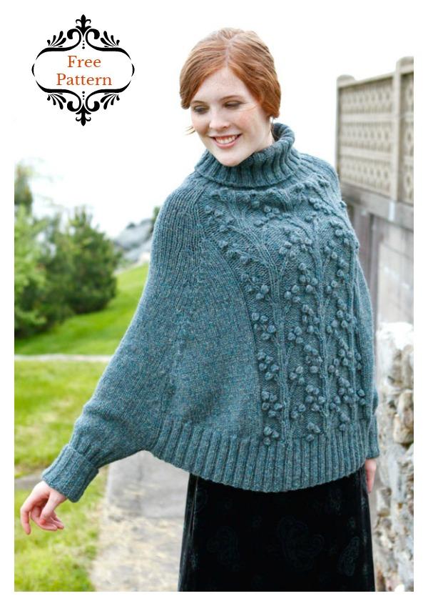 Wisteria Poncho Free Knitting Pattern