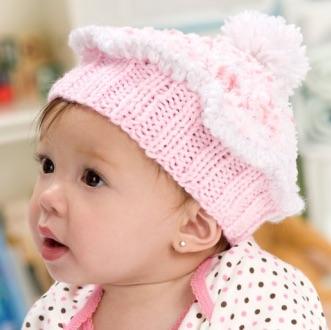 Cupcake Baby Hat Free knitting Pattern