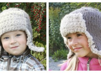 Aviator Earflap Hat Free Knitting Pattern