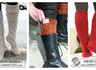 Cable Boot Socks Knitting Pattern