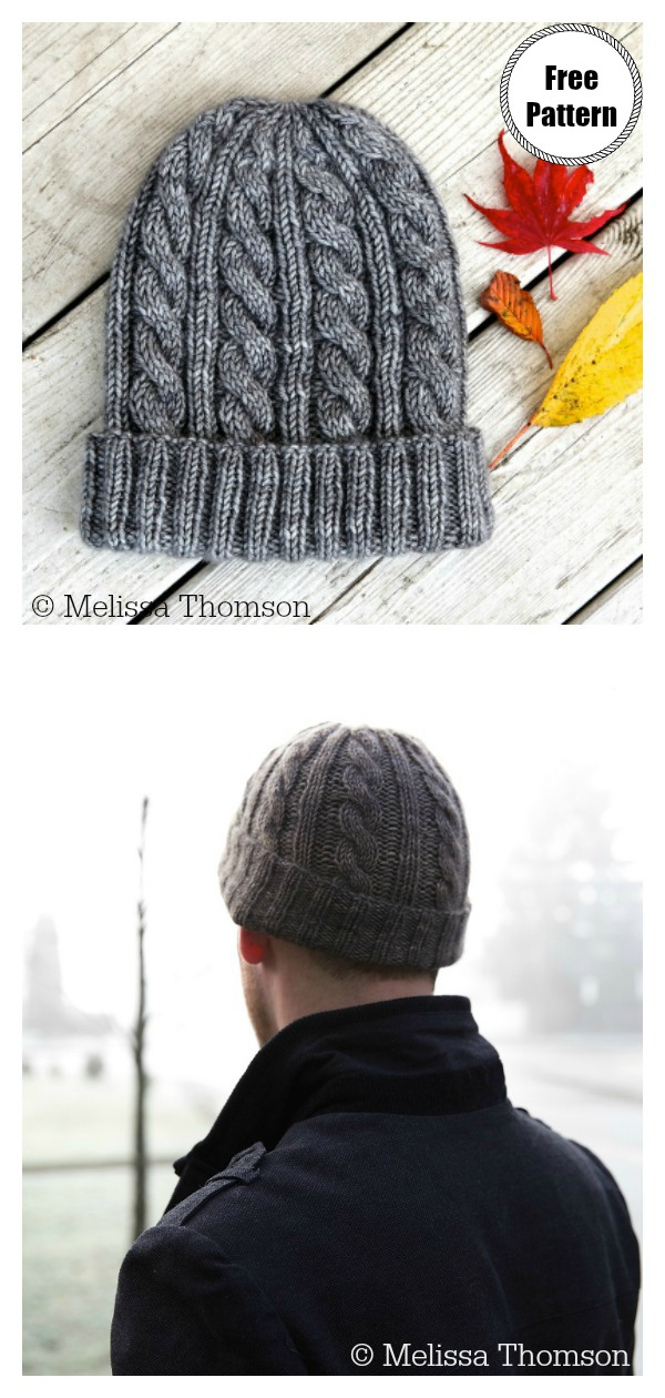 Cabled Jason's Cashmere Hat Free Knitting Pattern