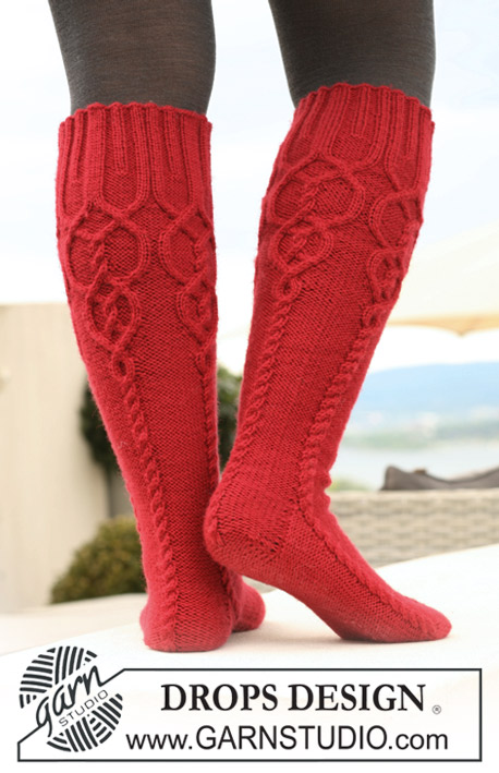 Celtic Cable Boot Socks Free Knitting Pattern