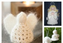 Christmas Angel Ornament Free Knitting Pattern