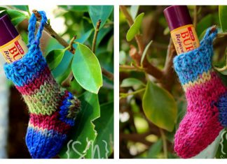 Christmas Stocking Lip Balm Cozy Free Knitting Pattern