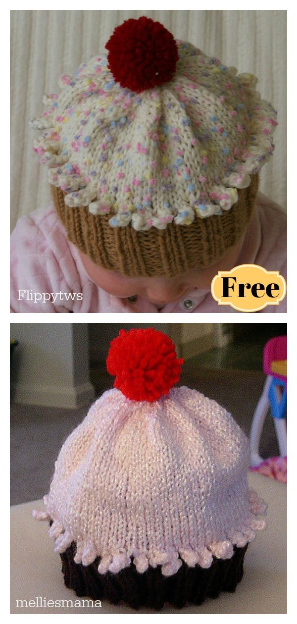 Cupcake Hat Free knitting Pattern 4b299da0a2e