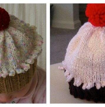 Cupcake Hat Free knitting Pattern