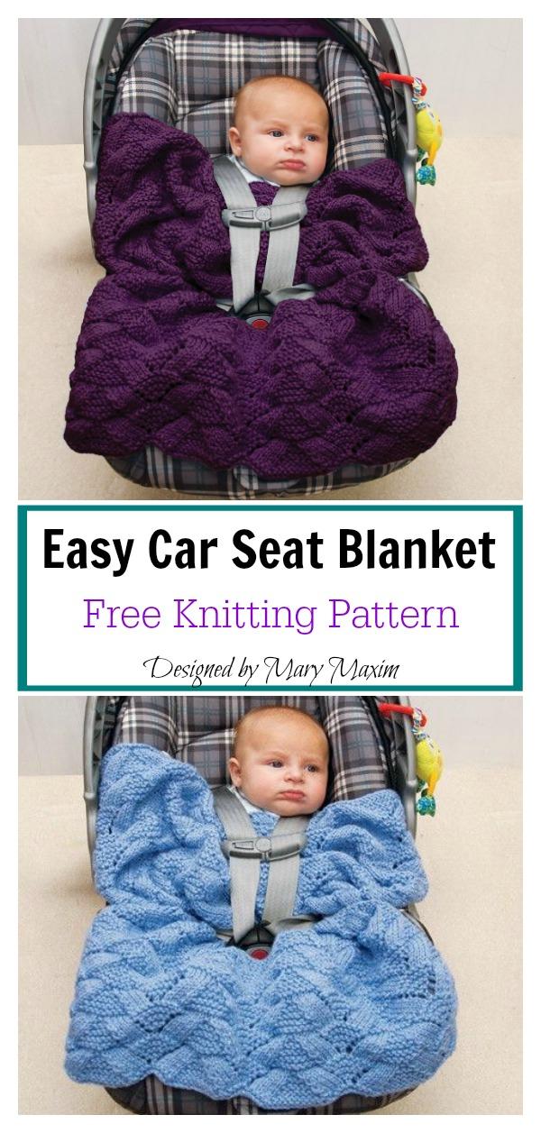 Easy Car Seat Blanket Free Knitting Pattern