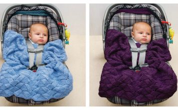 Easy Car Seat Blanket Free Knitting Pattern