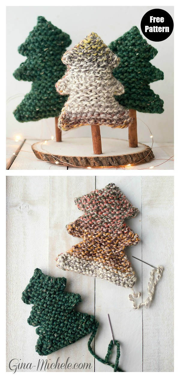 Easy Christmas Tree Free Knitting Pattern