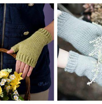 Easy Fingerless Mitts Free Knitting Pattern