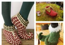 Elf Slippers Free Knitting Pattern