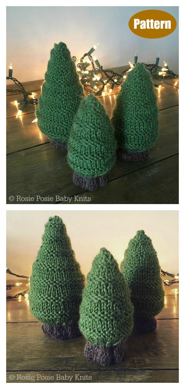 Evergreen Trio Christmas Tree Knitting pattern