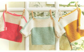 French Macaroon Baby Sweater Free Knitting Pattern