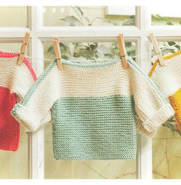 French Macaroon Baby Sweater Free Knitting Pattern