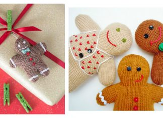 Gingerbread Man Free Knitting Pattern