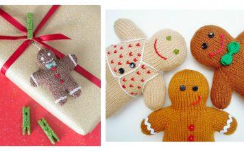 Gingerbread Man Free Knitting Pattern