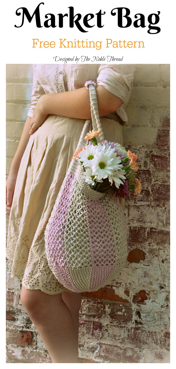 Lace Market Bag Free Knitting Pattern
