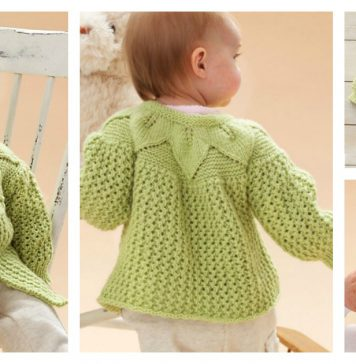 Leaf and Lace Baby Set Free Knitting Pattern