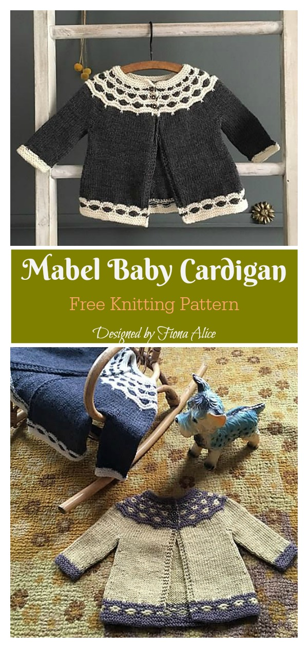 Mabel Baby Cardigan Free Knitting Pattern
