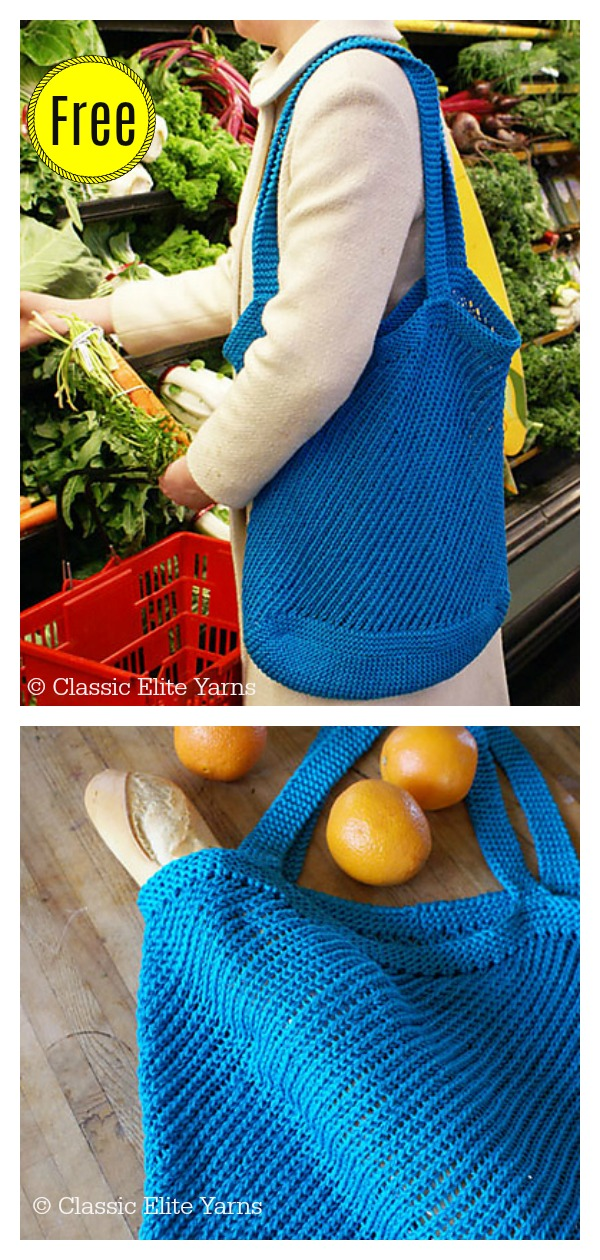 Market Bag Free Knitting Pattern