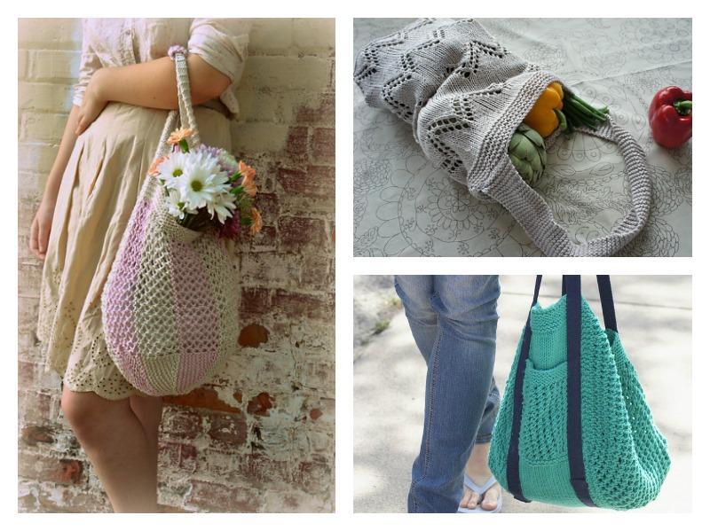 5 Market Bag Free Knitting Patterns