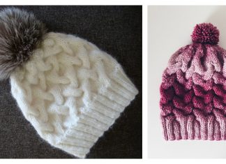 Ombre Cable Hat Free Knitting Pattern