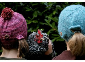 Ponytail Hat Free Knitting Pattern