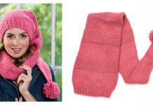 Scarf Hat Duo Free Knitting Pattern