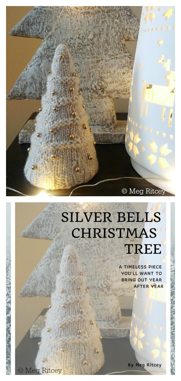 Silver Bells Christmas Tree Free Knitting pattern