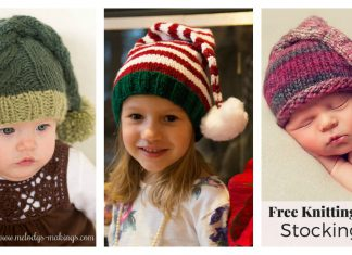 Stocking Hat Free Knitting Pattern
