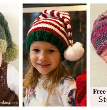 Stocking Hat Free Knitting Pattern