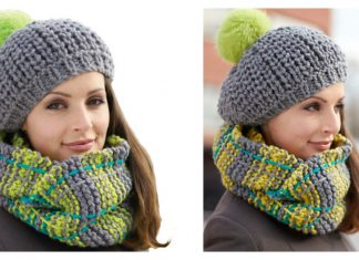 Winter Weather Hat and Cowl Set Free Knitting Pattern