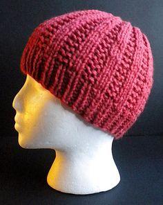 Basic Garter Rib Hat Free Knitting Pattern