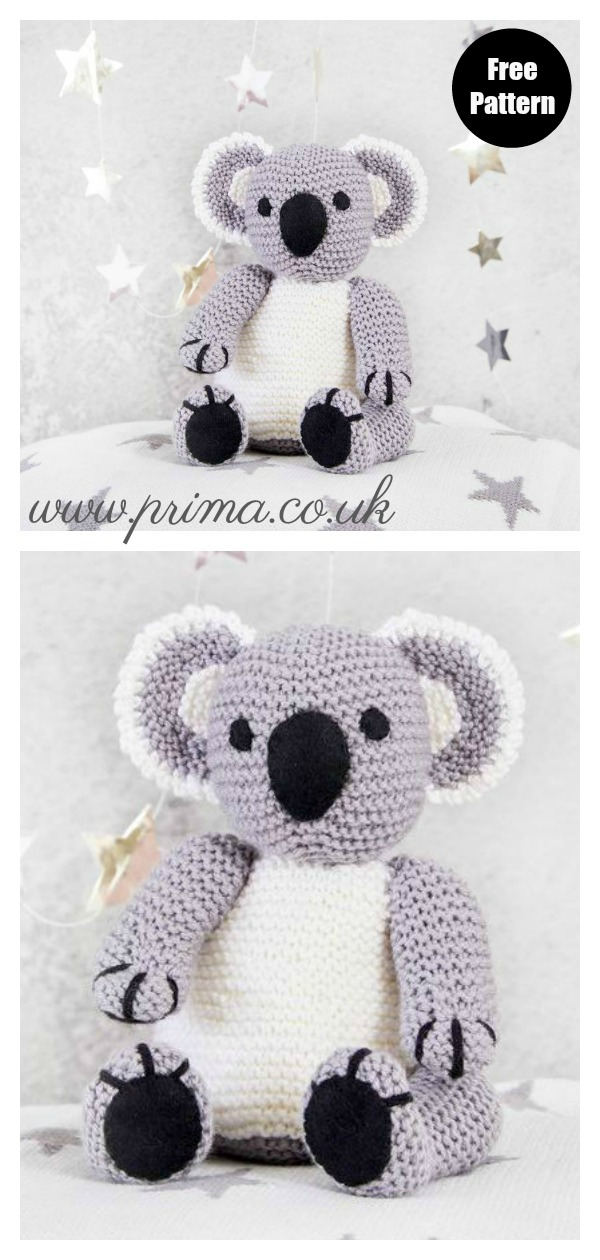Free Japanese Craft Patterns: Koala Bears Amigurumi Soft Toy Free ... | 1260x600
