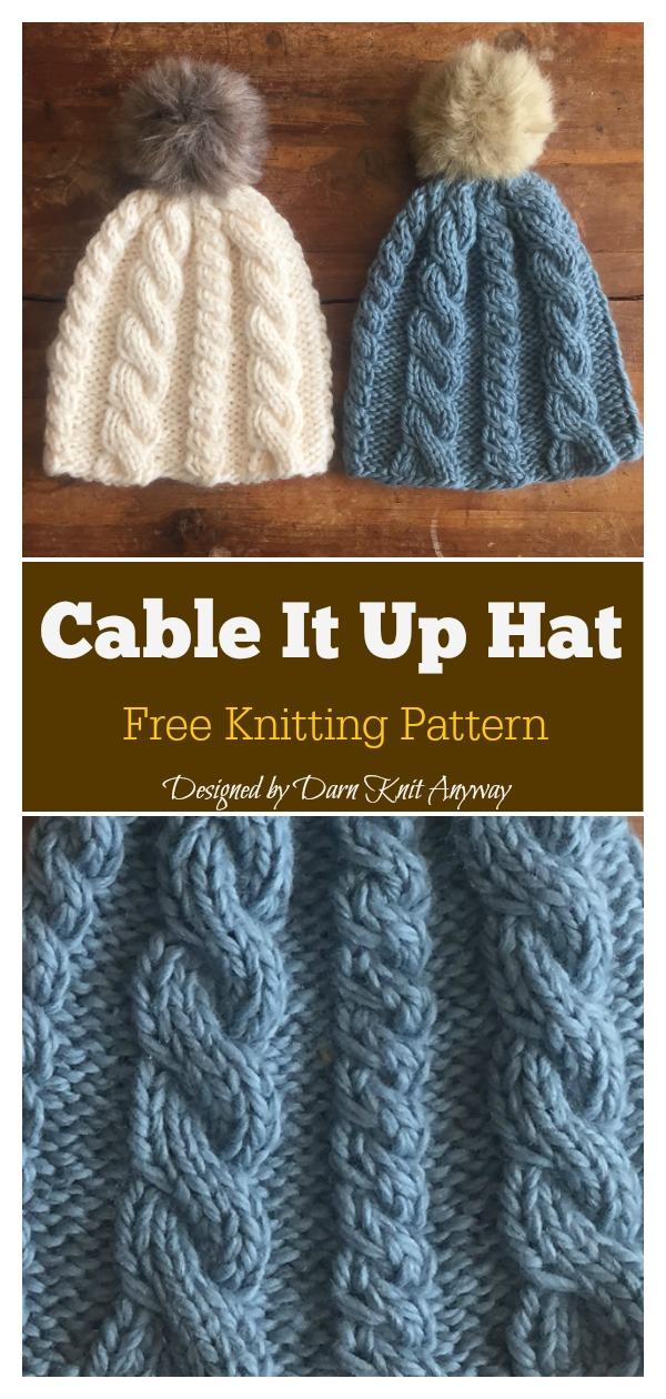 Cable It Up Hat Free Knitting Pattern