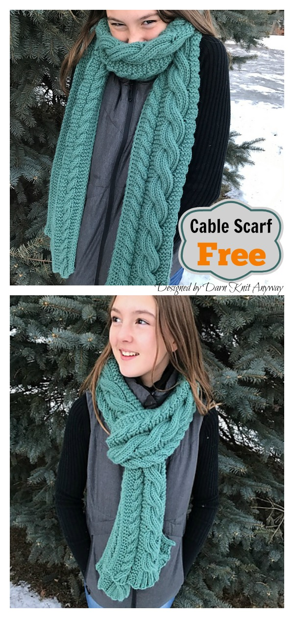 Cable It Up Scarf Free Knitting Pattern