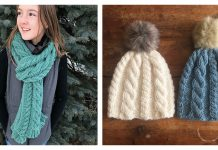Cable It Up Scarf and Hat Free Knitting Pattern