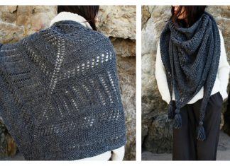 Cambria Wrap Free Knitting Pattern