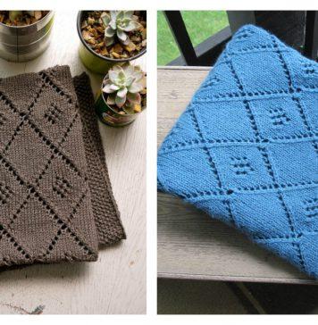 Chocolate Parfait Baby Blanket Free Knitting Pattern