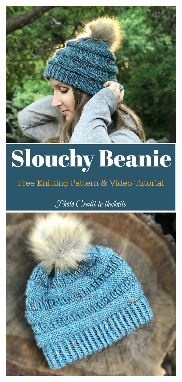 Copy.Cat C.C Easy Slouchy Beanie Hat Free Knitting Pattern