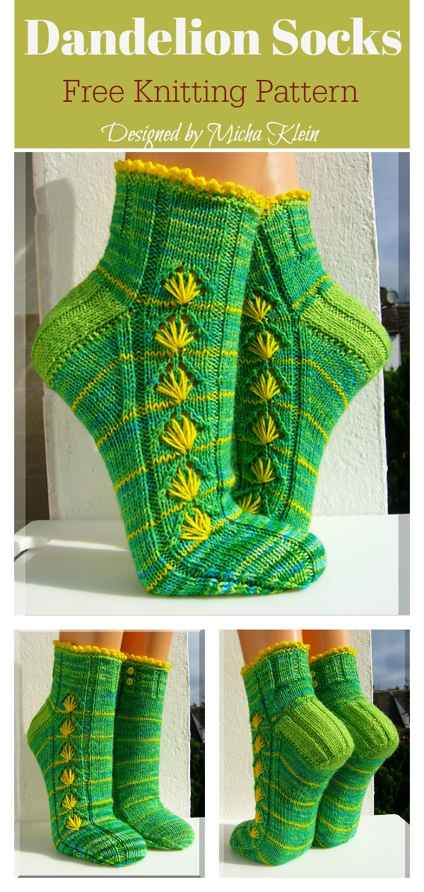 Dandelion Socks Free Knitting Pattern